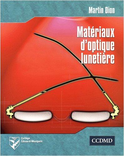 Matériaux d'optique lunetière
