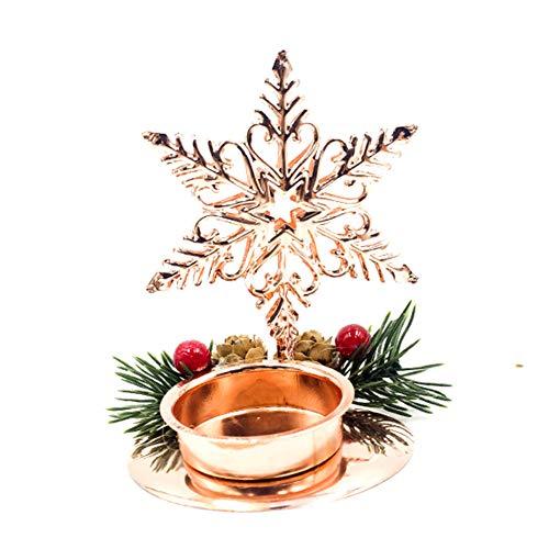 Allsunny Candelabro Hierro Árbol De Navidad Estrella