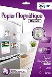 Avery 3 Feuilles de Papier Magnétique - A4 - Impression Jet d'Encre  - brillant (C9420)...