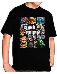 Camiseta Clash Royale Personajes GTA Style (9-10-11 años)