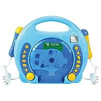 von X4-TECH 701480–Karaoke Reproductor de CD MP32Mikros Niño, Color Azul