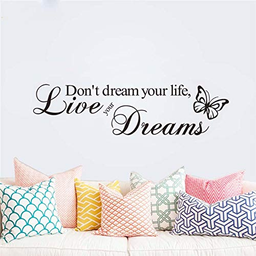 EdmendYang träume Nicht Dein Leben lebe Deine träume wandaufkleber Schlafzimmer Dekoration s Vinyl Home Decal wandkunst