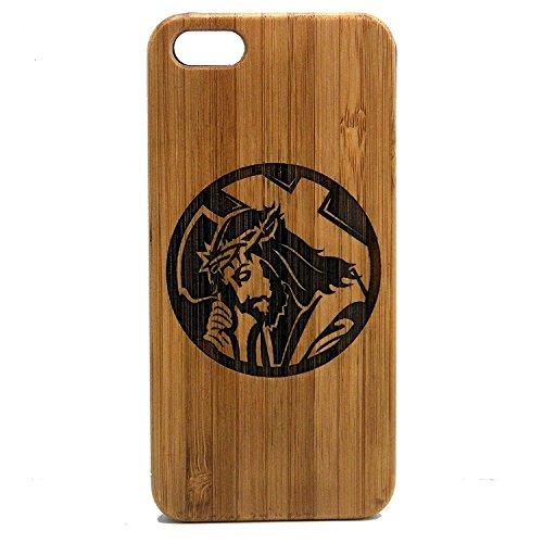 Jesus Christus iPhone 8Plus Case/Cover by imakethecase | umweltfreundlichem Bambus Holz Handy Cover Haut | Christian Lord Bearing Kreuz Dornenkrone. (Kreuz Mit Dornenkrone)