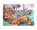 Luxus-Puzzle für Kinder – Kidzjigz Puzzle 80 Teile - Pirat (Pirates Ahoy)