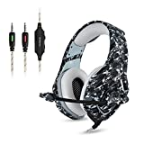 Gaming Headset NEUF MIS à jour Xbox One Casque Over Ear stéréo casque de jeu basse Gaming casque avec micro pour isolation acoustique Casque Audio Professionnel de 3,5 mm avec Microphone et Contrôle