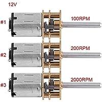 DC 12V Motor de Engranajes Motor de Reducción de Velocidad Motor Micro Motor Reductor de Velocidad