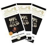 Lindt Excellence Schokolade 99% Cacao 3er Set (3x50g Tafel)