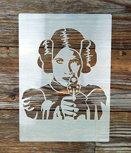 Corte láser Star Wars Princesa Leia plantilla de Mylar reutilizable lavable 250micras A4
