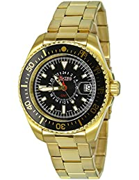 Nautec No Limit Herren-Armbanduhr XL Deep Sea Analog Quarz Edelstahl beschichtet DS QZ-GMT/GDGDBKBK