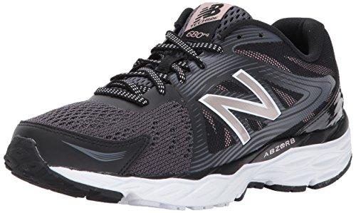 New balance 680, scarpe sportive indoor donna, nero (black), 36 eu