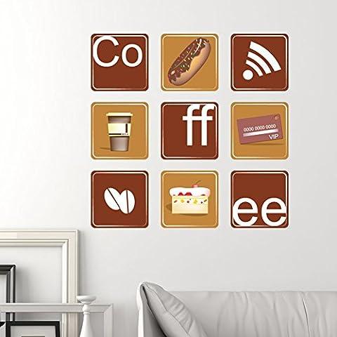 Palais,modèle de café,boutique de thé,autocollants de fenêtre de bar de loisirs/stickers muraux intérieurs/verre autocollants pour fenêtres-A
