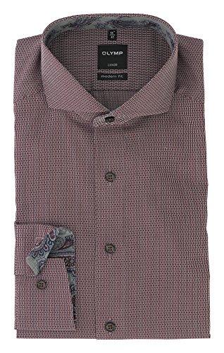 OLYMP -  Camicia classiche  - Uomo Rosso scuro