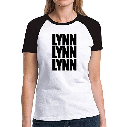 Eddany Lynn three words Damen Raglan T-Shirt (Stadt Lynn M)