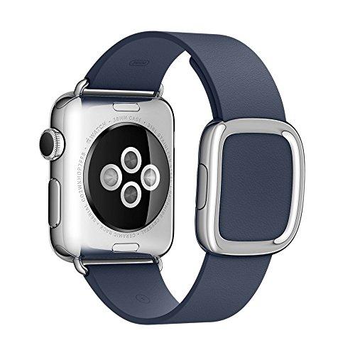 Apple watch band,Gosuper®Moderna Buckle Genuine Leather Cinturino braccialetto della fascia della fascia di polso con la sostituzione di adattatore chiusura per Apple Watch