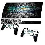 Zerrissen Flagge Kasachstan, Designfolie Sticker Skin Aufkleber Schutzfolie mit Farbenfrohem Design für PlayStation 3 Fat