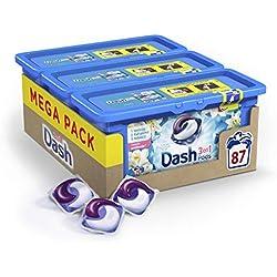Dash 3en1 Pods Fleurs De Lotus Et Lys Lessive en Capsules - 87 lavages (Lot de 3 x29 doses)