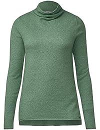 CECIL Damen Pullover mit Stehkragen
