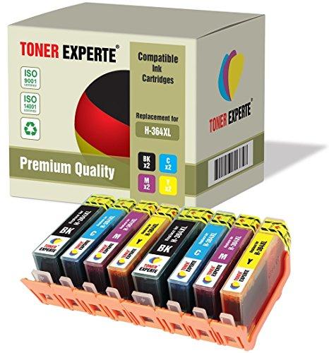8 XL TONER EXPERTE® Druckerpatronen kompatibel für HP 364XL Photosmart 5510 5512 5514 5515 5520 6510 6515 6520 7515 B109a B109n B110a Photosmart Plus B209a B210a Deskjet 3070A 3520 Officejet 4610 4620 (5512 Hp Photosmart)