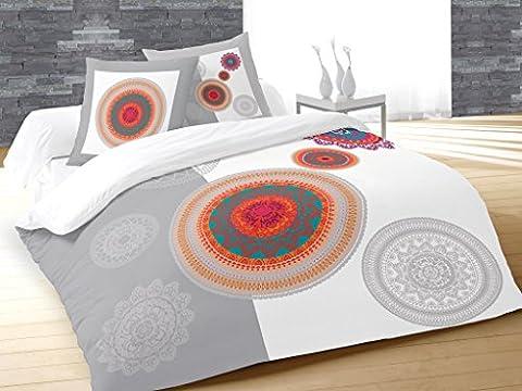 Soleil d'ocre 635536 Fantasy Parure de Couette Coton Multicolore 240 x 220 cm