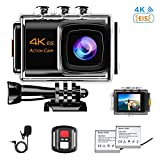 NINE CUBE Action Camera 4K Ultra HD WiFi 20MP, Fotocamera Sportiva Impermeabile da 30M, Mic Esterno,...