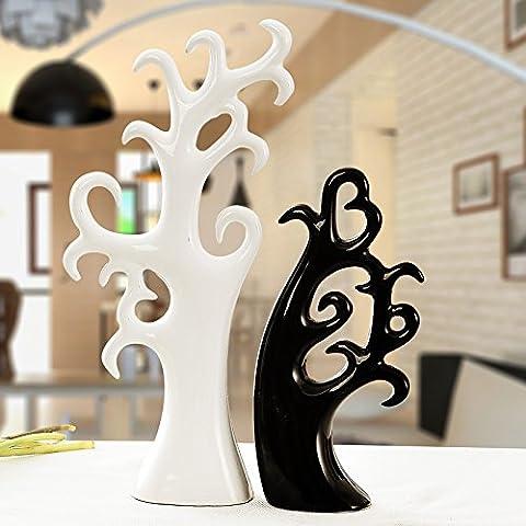 Lx.AZ.Kx Il regalo di nozze moderne decorazioni Home Soggiorno Mobile Tv ornamenti Artware ceramica albero dell'amore,l'amore Tree bianco /