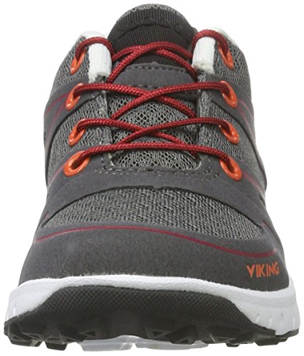Viking Valhall Ii, Chaussures Multisport Outdoor mixte enfant Grau (CHARCOAL/RED)