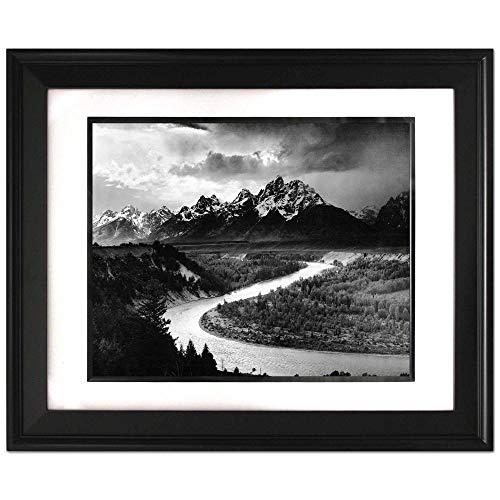 ArtDash® Foto-Kunstdruck, berühmtes historisches Bild: Ansel Adams 'Die Tetons und der Schlangenflus' Special Edition Framed 11