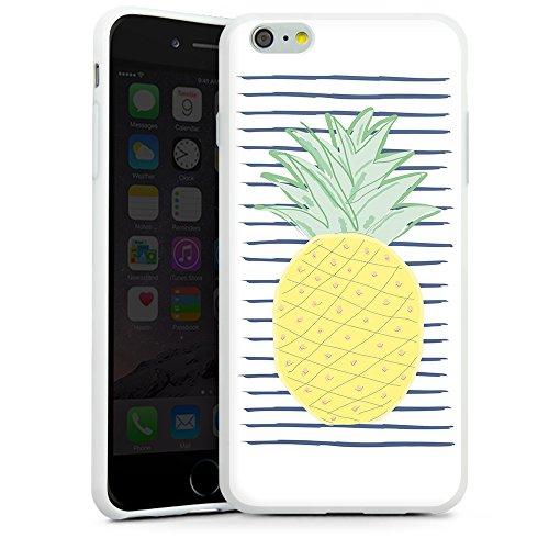artboxONE Handyhülle iPhone 5/5S One Ananas - Rock the kitchen - Smartphone Case mit Kunstdruck hochwertiges Handycover kreatives Design Cover aus hartem Kunststoff von Michaela Merzenich Silikon Case weiß