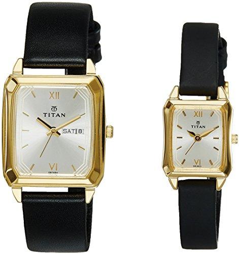 51QDzU nVjL - Titan NE15812488YL04 Couple watch