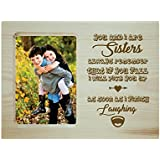 [Sponsored]Yaya Cafe Rakhi Gifts For Sister Photo Frame For Table Sister Laughing Engraved Wooden
