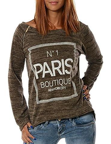 Damen Pullover (weitere Farben) No 13401, Farbe:Khaki;Größe:One Size