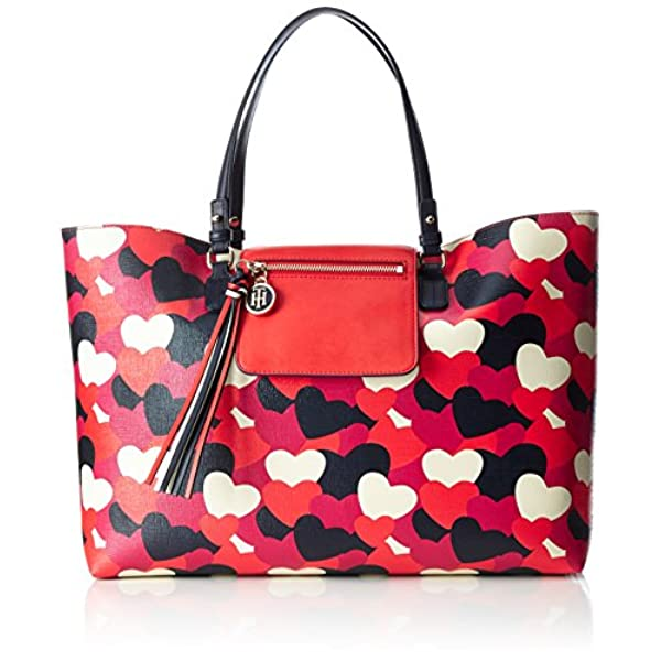 44995bda3 Ofertas para comprar online Bolso de mano Tommy Hilfiger (Love Reversible  Tote Heart, Bolsos totes Mujer, Rot (Heart Print), 13x31x46 cm (W x H D))
