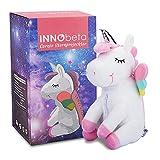 InnoBeta Peluche Proyector Estrellas Unicornio luz nocturna para niños, Unicornio regalo juguete para niña fiesta cumpleaños