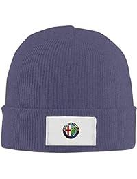 Wfispiy Alfa Romeo Logo Mens Warm Winter Hat Knit Beanie Hat Skull Cap Unisex ABCDE13536