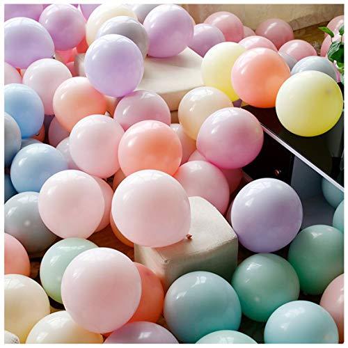 Mfei palloncini pastello palloncini in oro rosa in lattice per matrimonio multicolor per bambini compleanno per feste forniture decorazioni per matrimoni accessori per feste in 100 pezzi 12 pollici