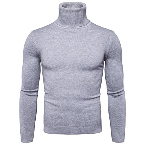 Preisvergleich Produktbild Swallowuk Strickwaren Herren Langarm Slim Fit Hohe Kragen T-Shirt Tops Herbst Winter Jacke Outwear Mantel Sweatshirt Pullover Langarmshirt (XL