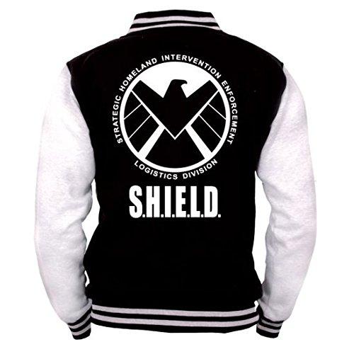Avengers Baseball Varsity Giubbotto Jacket S.H.I.E.L.D. Logo Size XL CODI