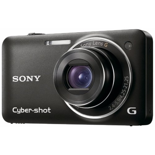 Sony DSC-WX5B Digitalkamera (12 Megapixel, 5-fach opt. Zoom, 7 cm (2,8 Zoll) Display, 3D Schwenkpanorama, Full HD Video) schwarz