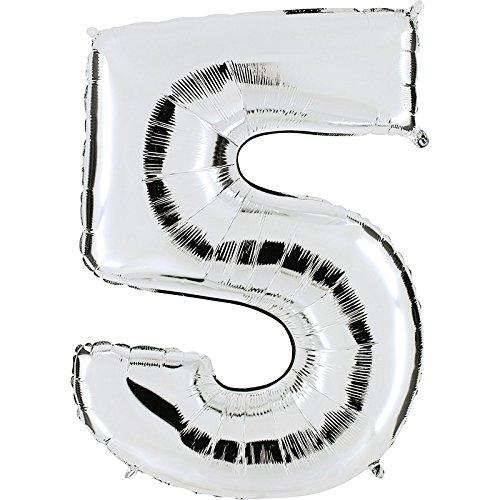 ber - XXL Riesenzahl 100cm - für Geburtstag Jubiläum & Co - Party Geschenk Dekoration Folienballon Luftballon Happy Birthday ()