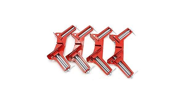 bulrusely Rechtwinklige Klammer 90 Grad Rechts Winkel Klemme 4 Pcs Winkelspanner Holz Metall Schwei/ßEn Rahmenspanner Bilderrahmen Multi Winkel Lenkerklemmung