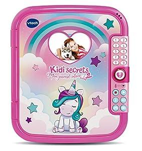 VTech KidiSecrets Mon Journal intime Magique - Electrónica para niños (Rosa, 6 año(s), Chica, 12 año(s), Francés, AA)