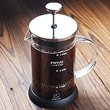 Decen, caffettiera francese da 6 tazze, caffettiera e teiera in acciaio inox, Acciaio inossidabile, 600ml