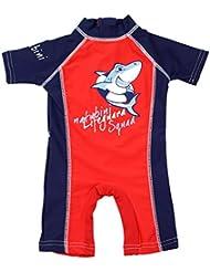 "natubini Kinder Sonnenschutz Schwimm-Anzug - ""Lifeguard Squad"", orig. aquabini Baby u. Kinder Swim Wear mit UV-Schutzfaktor UPF 50+ Badeeinteiler Surfanzug"