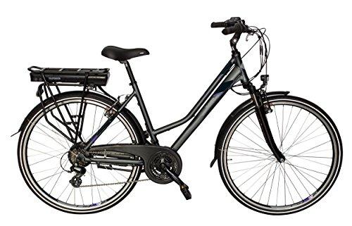 Telefunken E-Bike Damen Elektrofahrrad Alu 28 Zoll mit 21-Gang Shimano Altus Kettenschaltung, Pedelec Trekkingrad mit Hinterrad-Motor 250W 10Ah, 36V Akku, XT469 Expedition