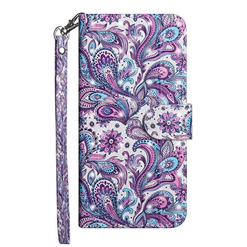 vingarshern Hülle für Alcatel A3 Schutzhülle Etui Klappbares Magnetverschluss Lederhülle Flip Case Handytasche Alcatel A3 Hülle Leder Brieftasche Tasche MEHRWEG(Mandala)
