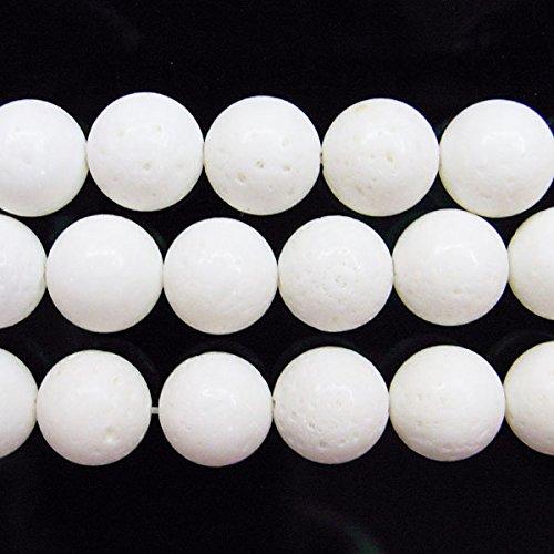 thetastejewelry rund 10mm weiß Coral Perlen 38,1cm 38cm Halskette Heilung Schmuck herstellen (Einfügen Koralle Rote)