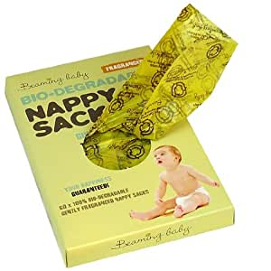 Beaming Baby Bio-degradable Nappy Sacks Fragranced - 5 x packs of 60 (300 bags)