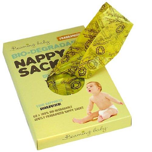 Beaming Baby Windelsäcke, biologisch abbaubar, parfümiert, 300 Stück