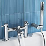 iBathUK | Bath Filler Mixer Tap with Modern Bathroom Shower Head TB3015