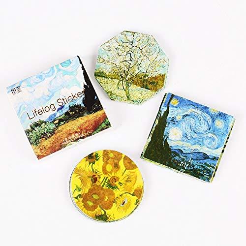 Ruzny - 90PCS / 2sets Van Gogh Aufkleber Künstler Klassische Malerei Reisenotizbuch-Tagebuch-DIY Dekoration Aufkleber Stationery Sticker -
